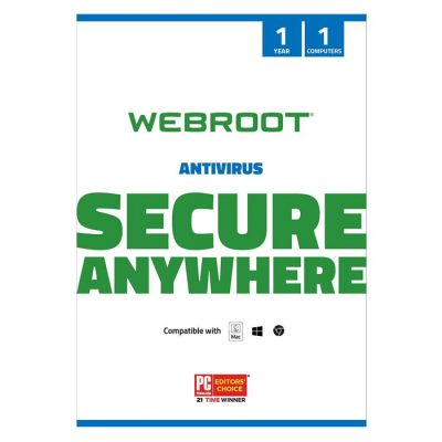 Webroot SecureAnywhere Antivirus 1 DEV/ 1 YEAR